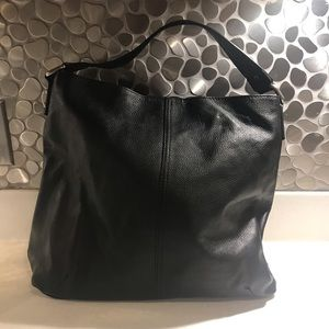 Kooba Black Leather Hobo Shoulder Bag